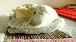 Origami Towel Art Frog