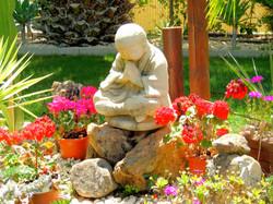 Buddha Overlooking Frog Pond