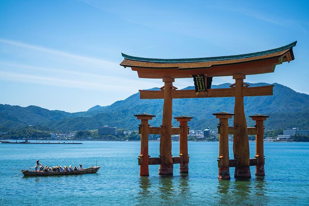 Torii a Miyajima, vicino Hiroshima
