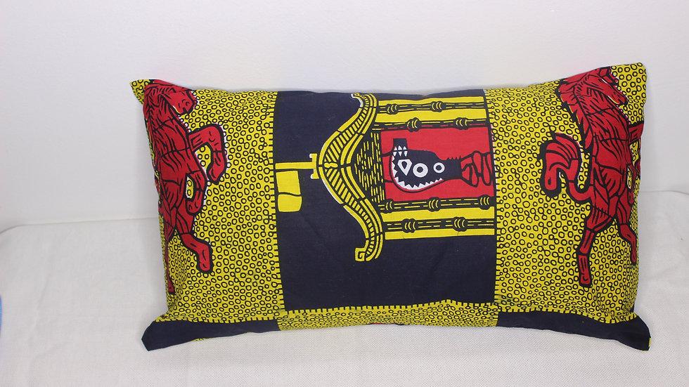 Wax Rosso Coussin fait main   -  50 * 30cm