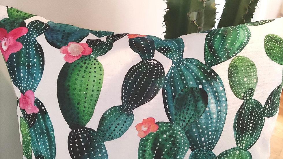Cactus vert 40X40 - Coussin Fait Main