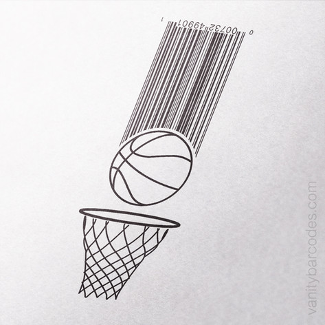 Basketball Vanity Barcode