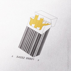 Box of Cigarettes Vanity Barcode