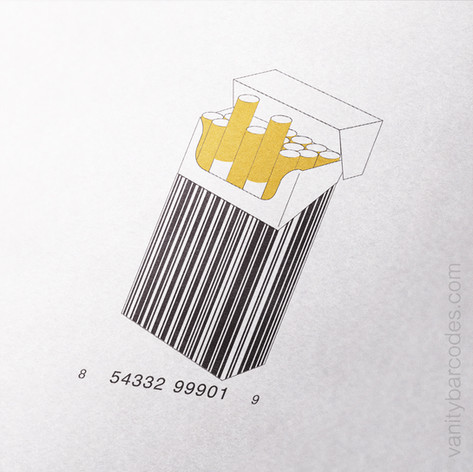 Box of Cigarettes Vanity Barcode