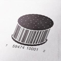 Ice Cream Sandwich Vanity Barcode