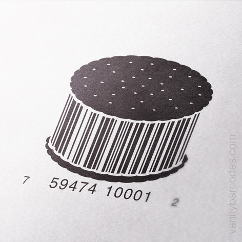 Ice Cream Sandwich Vanity Barcode