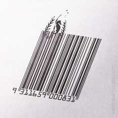 Seahorse Themed Vanity Barcode 03