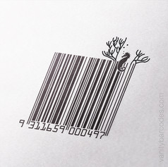 Seahorse Themed Vanity Barcode 10
