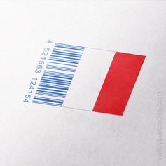 France Flag Vanity Barcode