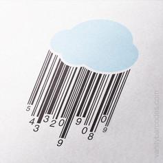 Rain Cloud Vanity Barcode