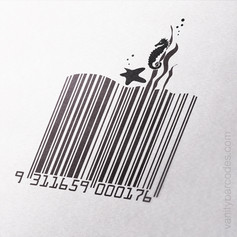 Seahorse Themed Vanity Barcode 07