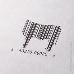 Cow Livestock Vanity Barcode