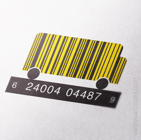 Yellow School Bus Vanity Barcode