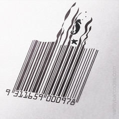 Seahorse Themed Vanity Barcode 01