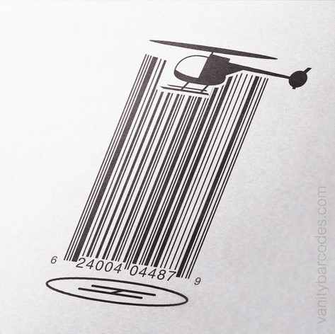 Helicopter Landing Vanity Barcode