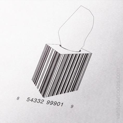 Tissue Box Vanity Barcode