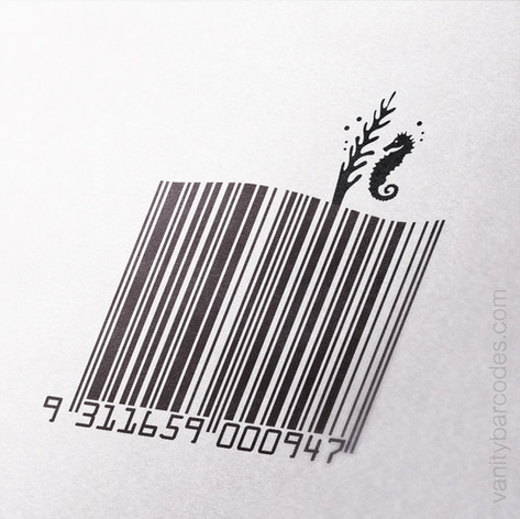Seahorse Themed Vanity Barcode 08