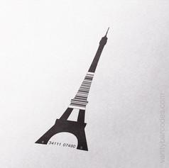 Eiffel Tower Vanity Barcode