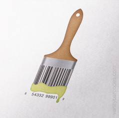 Paint Brush Vanity Barcode