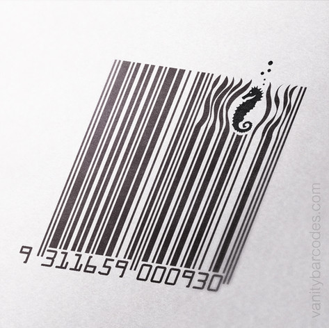 Seahorse Themed Vanity Barcode 02