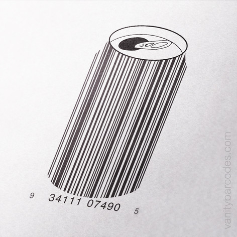 Soda Beer Can Vanity Barcode
