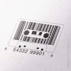 Analog Cassette Tape Vanity Barcode