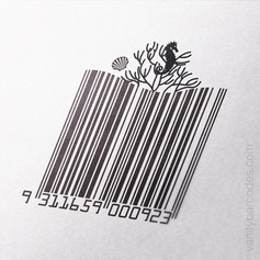 Seahorse Themed Vanity Barcode 05