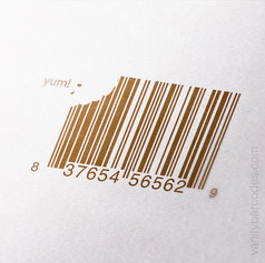 Cookie Bite Vanity Barcode