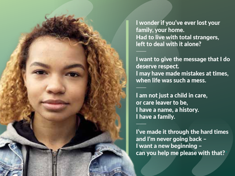 My 'I LAC NOTHING' poem used for South Gloucestershire's fostering recruitment campaign!