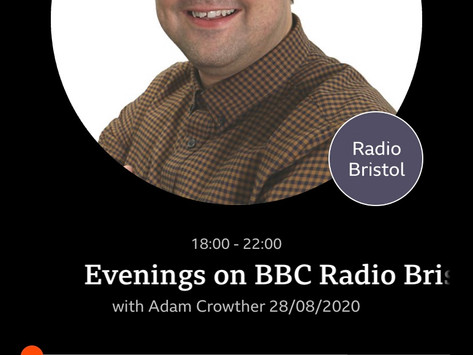 Interview with the lovely Adam Crowther on BBC Radio Bristol about my poetry work