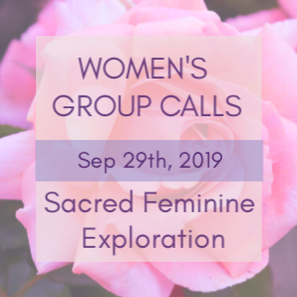 Sacred Feminine Embodiment Women's Group Calls | Jelelle Awen