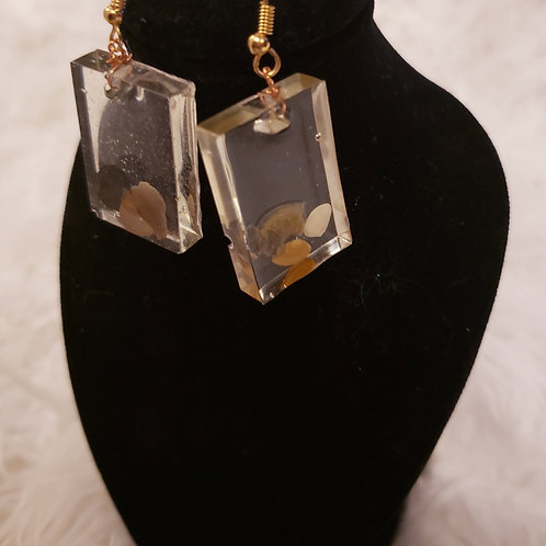 Rectangle Shell Earrings