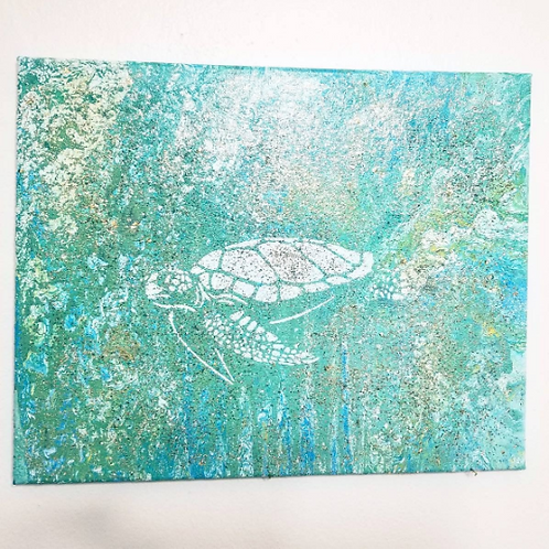 Textured Sea turtle