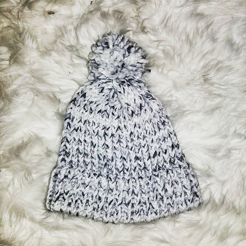 Salt and pepper knit hat