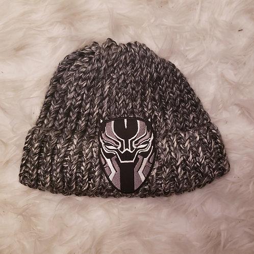 Grey Black Panther Knit Hat