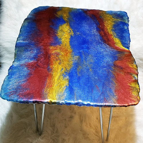 Resin Fire & Ice Table