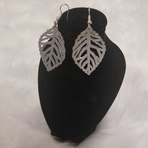 3d Printed Leaf Earrings