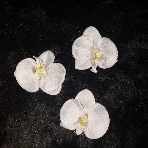 Orchid Flower Hair Pins