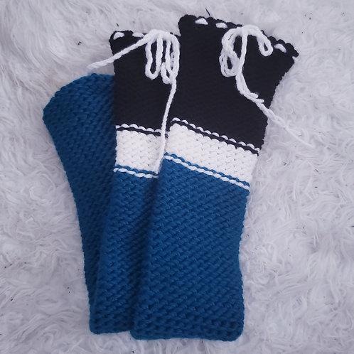 Teal Thigh High Knit Socks