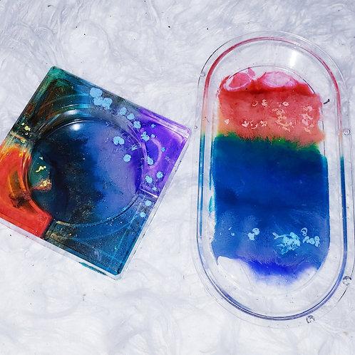 Rainbow Ashtray & Rolling Tray