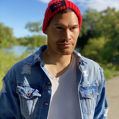 Deadpool Knit Beanie Hat
