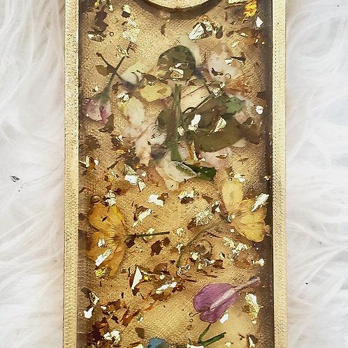 Flower Gold Flakes Balancing Wine Bottle Holder