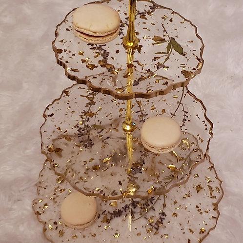 Lilac 3 Tier Cake Tower
