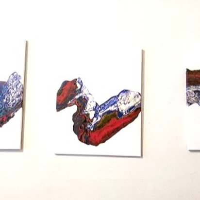 3 Piece Abstract Painting