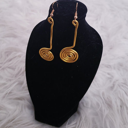 Spiral Gold Wire Wrap Earrings