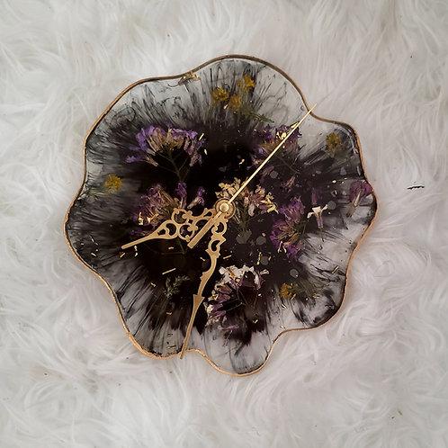 Resin Flower Clock