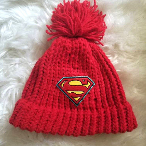 Superman Red Knit Hat