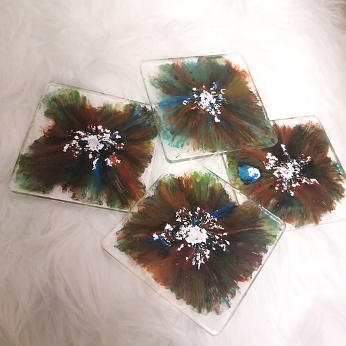Petrified Resin Coasters