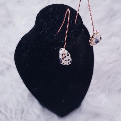 Dalmatian Jasper Gemstone Earrings
