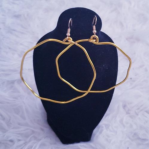 Octagon Hoops Earrings